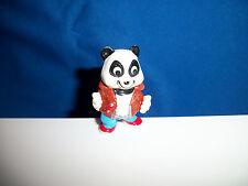 CARTOON PANDA PARTY Mini Figurine LEATHER JACKET Kinder Surprise Tiny Figure