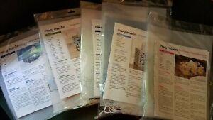 Mary Maxim Plastic Canvas Tissue Box Kits (5 styles) pick style New Old Stock