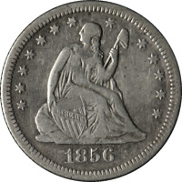 1856-O Seated Liberty Quarter Nice VF/XF Nice Eye Appeal Nice Strike
