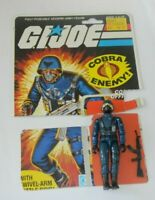 1983 GI Joe Cobra Officer Swivel Arm v1.5 Figure w/ File Card Back *Complete