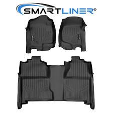 Smartliner Floor Mats Liner for 07-13 Silverado/Sierra 1500 and 07-14 2500/3500 (Fits: Chevrolet)