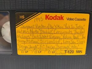 VHS tape 📼 sold as blank from 1993 TV  with commercials Westerns