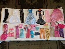 """BARBIE DOLL & 12"""" SIZE CLOTHES LOT~PANTS~WITCH DRESS~JUMPSUITS~DESIGNER GOWN"""