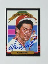 Mario Soto 1985 Donruss Diamond King DK Signed Autographed Card Cincinnati Reds