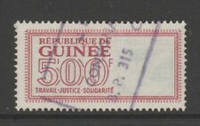 France Colonies Fiscal Revenue stamp 8-1-20 Guinee