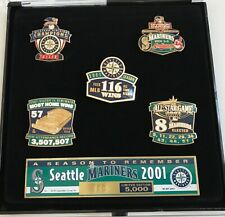 Seattle Mariners 2001 Season to Remember Limited Edition 5 Pin Set
