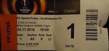 VIP TICKET Red UEL 2016/17 Sparta Praha vs Southampton FC