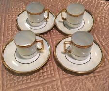 Heinrich H & Co. Bavaria Demitasse Cup and Saucer Set 4 cups 4 saucers Euc