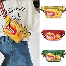 Funny Womens Waist Bag Fashion Crossbody Canvas Mini Raver Purse Should Bag PU