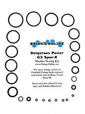 Dangerous Power DP G3 Spec-R Paintball Marker O-ring Oring Kit x 4 rebuilds kits