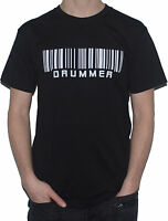 NEW Drummer Barcode Funny T-Shirt (Drumming / Drums / Drum Kit Musician Top
