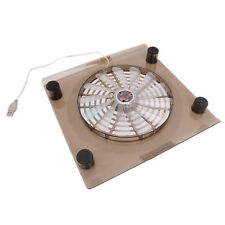 "Laptop 14.1""-15.4"" PC Notebook USB Cooling Fan LED Cooler Pad Translucent Tawny"