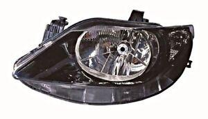 Seat Leon 2009- Altea 2007- Electric Headlight Front Lamp Black Inside RIGHT RH