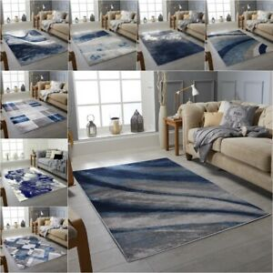 New Blue Grey Silver Small Extra Large Big Huge Size Floor Carpet Rug Mat Cheap