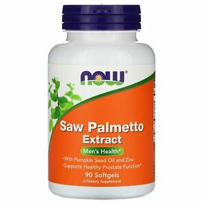 Saw Palmetto Extract, With Pumpkin Seed Oil and Zinc, 160 mg,  90 Softgels