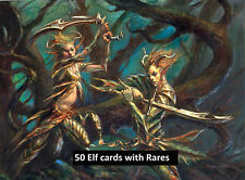 50 Elves / Elf Lot with Rares! Collection - EDH - Magic the Gathering MTG FTG
