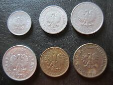 Polonia / Poland 10, 20, 50 groszy, 1, 2, 5 Zlotych
