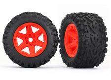 Tires & wheels, Assembled, glued Orange wheels Traxxas TRA8672A