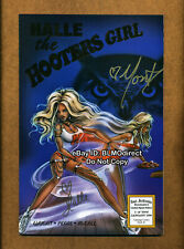 1998 Halle The Hooters Girl #1 Gold Foil Convention Signed Recalled Issue Error