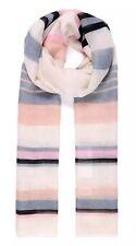 Pretty Stripe Stampa Pashmina Sciarpa Wrap Crema Nero Grigio SS17 90 x 180 cm