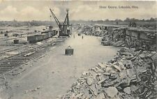 G93/ Lakeside Ohio Postcard 1909 Stone Quarry Steam Shovel Railroad