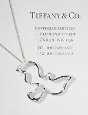 Tiffany & Co Plata de Ley Grande Paloma Picasso Paloma 61cm Collar