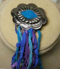 Clip Tie Boots Hat Vintage Antique Button Cover Bolo Tie Clip Blue Purple