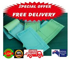 100 LARGE Restaurant Docket Books Duplicate Monthly SPECIAL FREE DELIVERY