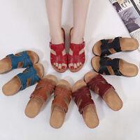 Women Premium Orthopedic Open Toe PU Sandals Retro Anti-slip Breathable Summer