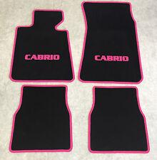Autoteppiche Fußmatten für BMW E30 / 3er Cabrio schwarz-pink Neuware 4teilig