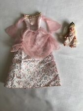 Vintage 1998 Princess Palace Baby Krissy With Barbie's Matching Dress