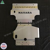 Nissan Navara D40 2012 to 2015, Bash Plates - Rx, St, St-x. 3mm Stainless Steel