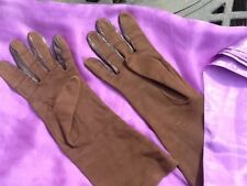 Vintage brown gloves by Cornelia James size 6.5