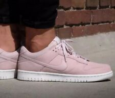 NIKE DUNK LOW MILLENNIAL PINK WHITE SUADE SYNTHETIC LEATHER MENS 9.5 / WOMENS 11