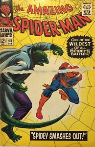 Marvel The Amazing Spider-Man No. 45 February 1966 Spidey Smashes Out