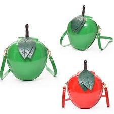 Women Shoulder Bag Apple Shape Crossbody Messenger Handbag Satchel Purse T7T6
