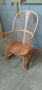 FULLY REFURBISHED ERCOL CHAIRMAKERS ROCKING CHAIR MID CENTURY VINTAGE RETRO