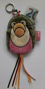 Nici Geldbörse, flauschig/weich, Tiermotiv: Tukan, mit Schlüsselanhängerring