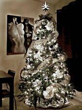 Blinkende LED 100er Lichterkette Weiß kalt Weiss  CHRIST Baum Schmuck, Fenster