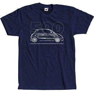 Fiat 500 Italienische Car T-Shirt Fan Auto S - 5XL