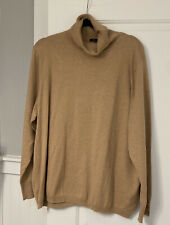 Nwt Talbots 3X Camel Long Sleeve Button Cuff Turtleneck Sweater
