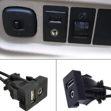 1pc AUX Extension Cable Lead Mounting Panel  Car Boat Dash Flush Mount USB Port