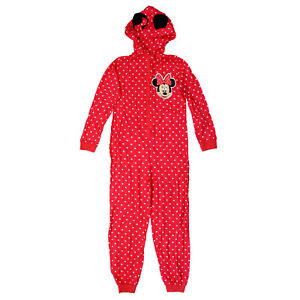 Ladies Disney Minnie Mouse Cotton Jumpsuit All in One Size 10 3D Ears Polka Dot
