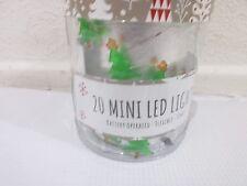Christmas 20 Mini Christmas Tree LED Lights Battery Operated Flexible Timer
