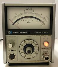 Hp 435a Analog Power Meter Hewlett Packard Great Cosmetic With Power Ref Cal Adj