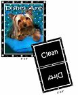 DOG DISHWASHER MAGNET (Yorkshire Terrier) - Clean/Dirty *Ship FREE