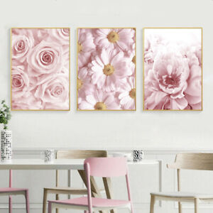 Rose Peony Flower Canvas Poster Botanical Floral Wall Art Print Home Decoration
