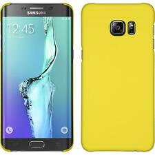 Samsung Galaxy S6 Edge Plus estuche hardcover goma amarillo