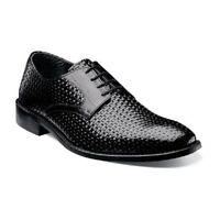 New Mens Sanfillipo  Stacy Adams Black Leather Dress Shoes  Lace up  24938_001