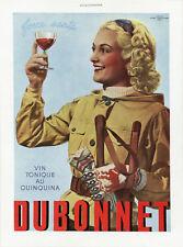 """""""DUBONNET"""" Annonce originale entoilée L'ILLUSTRATION SPECIAL NOËL1938"""